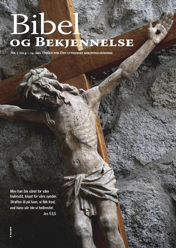 Bibel og bekjennelse 1-2014 (forside)