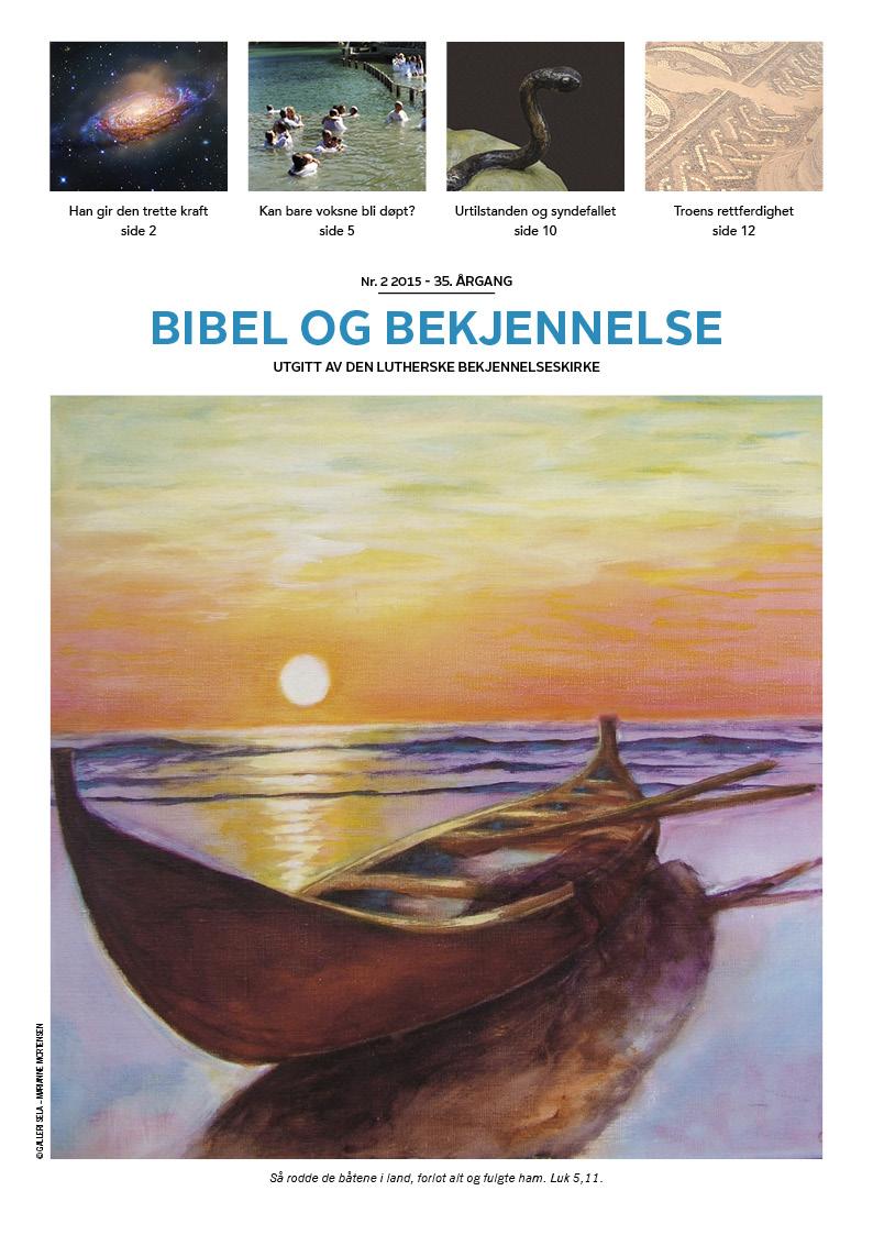 Bibel og bekjennelse 2-2015 (forside)