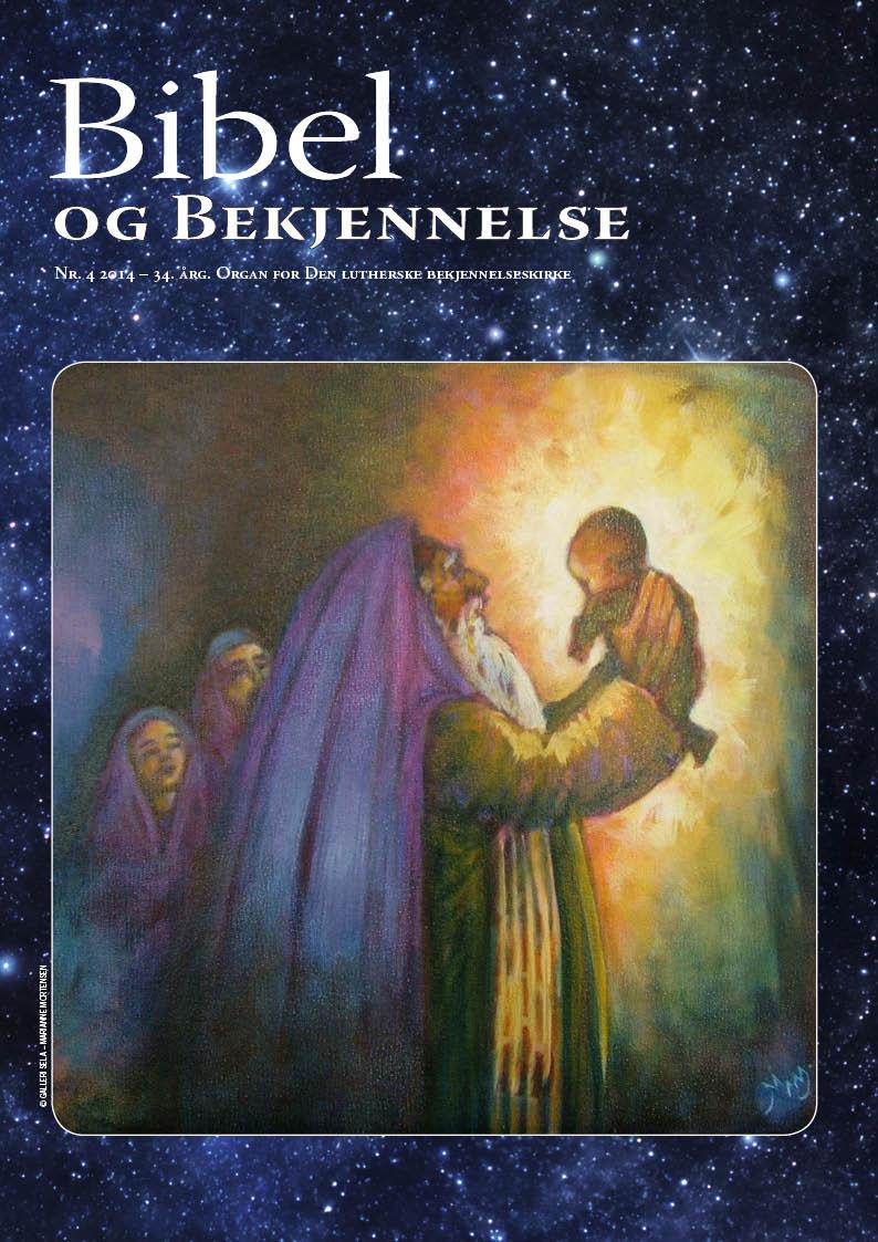 Bibel og bekjennelse 4-2014 (forside)
