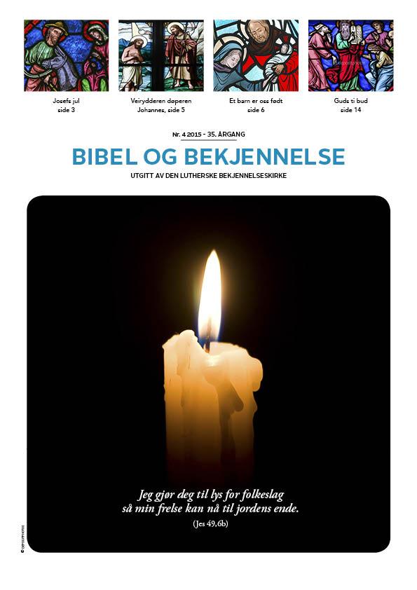Bibel og bekjennelse 4-2015 (forside)